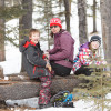 Snowshoeing at West Bragg Creek on Family Day
