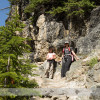 Hiking to Lake Oesa near Lake O'Hara