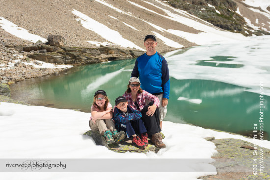 Family Portrait at Lake Oesa near Lake O'Hara