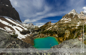 Lefroy Lake on the Lake Oesa Trail near Lake O'Hara