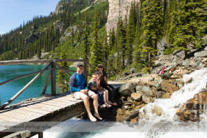Family Portrait at Seven Veils Falls at Lake O'Hara