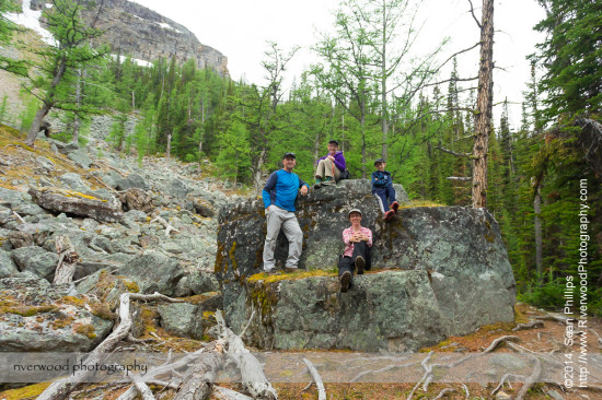 Family Portrait on the Big Larches Trail to Lake McArthur