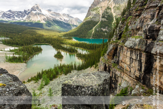 Hiking to Opabin Lake near Lake O'Hara in Yoho National Park