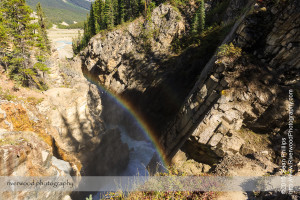 Waterfall on the North Saskatchewan River at the Big Bend