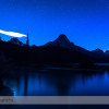 Night Sky over Waterfowl Lakes