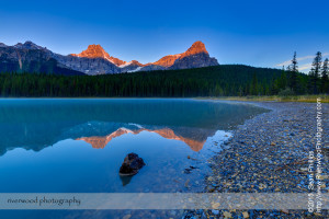 Upper Waterfowl Lake at Sunrise